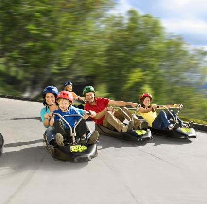 Skyline Rotorua Family of 5 (2 Adults 3 Children) Gondola + 3 Luge Rides Each