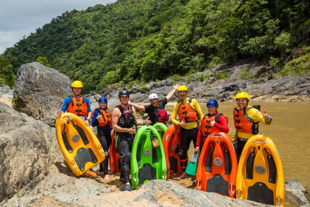 Rapid Boarders: Full day, Tully river: White water river boarding tour