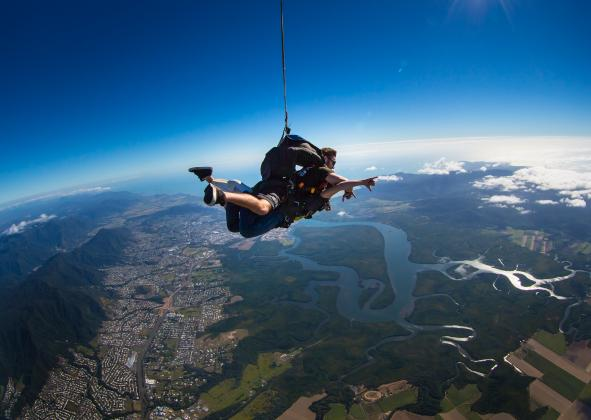 Raging Thunder: Thrills & Spills - Barron Rafting & up to 15,000ft Skydive Cairns