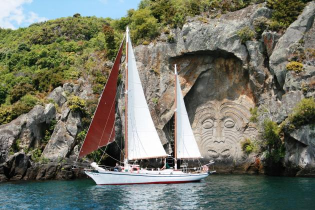 9.30am; Maori Rock Carvings Tour