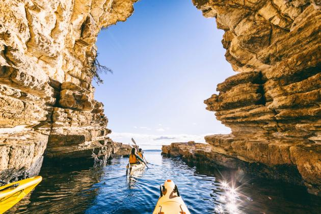 Hobart's Cliffs, Caves and Beaches Paddle