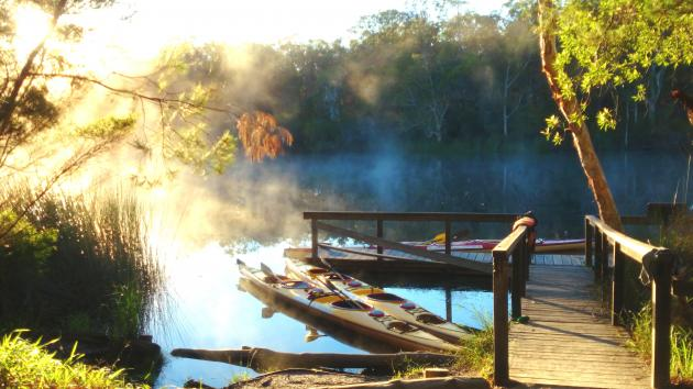 Noosa Everglades Wildernes Kayak, Camp & Hike Safari 3 Day 2 Night  (complimentary 2 litre cask Australian Red Wine included in every booking for 2 people)