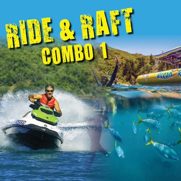 Airlie Adrenalin Adventures - Whitsunday Jetski Tours & Ocean Rafting: Ride & Raft Combo 1