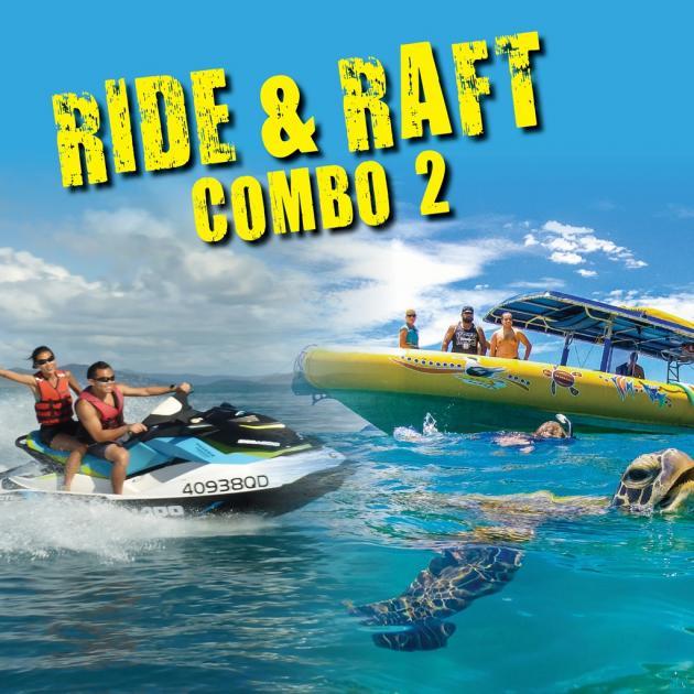 Airlie Adrenalin Adventures - Whitsunday Jetski Tours & Ocean Rafting: Ride & Raft Combo 2