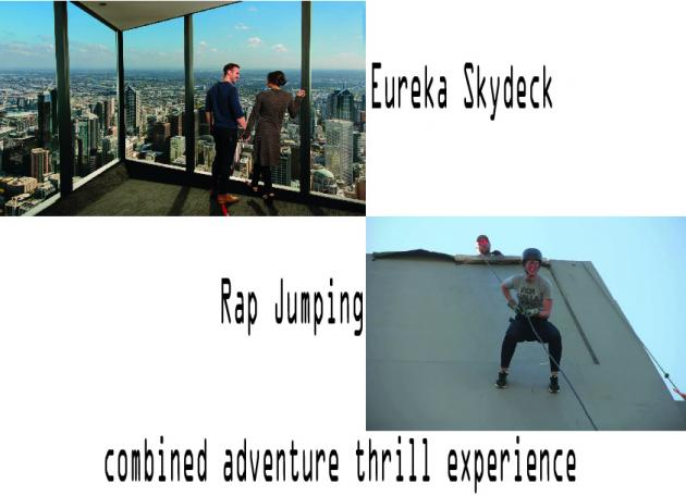 Melbourne Eureka Skydeck and Rap jumping combined adventure tour