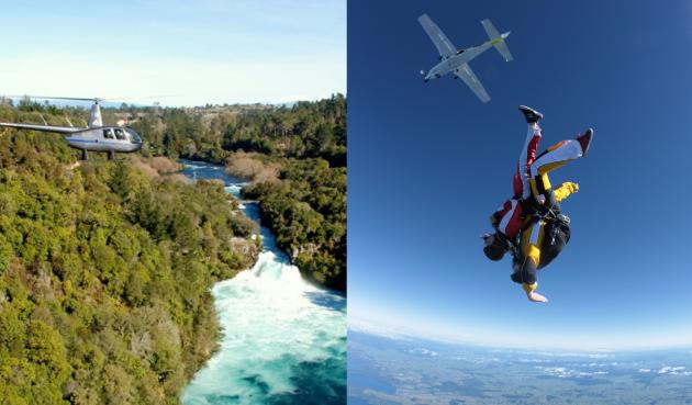Heli-Dive: Helicopter and Skydive Package