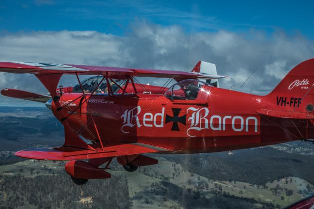 Sydney Harbour and Northern Beaches joy flight in the open canopy Pitts Special with the option to experience mild aerobatics